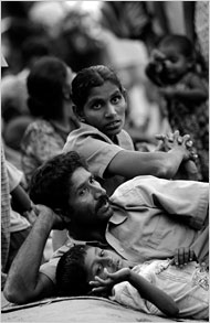 Displaced ethnic Tamils, Feb 7, 2009.