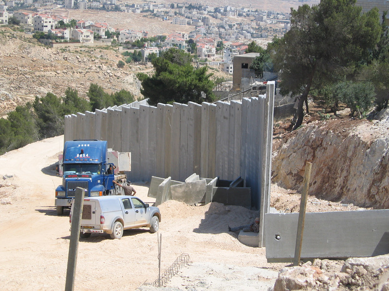 "Israel's ""separation wall"" in the West Bank.  Photo by Marc Ross."